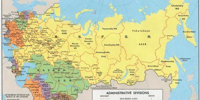 Carte Urss.La Russie Carte Cartes De La Russie Europe De L Est Europe